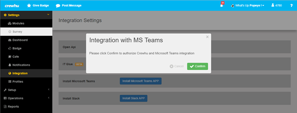 Microsoft Teams Integration Setup – CrewHu